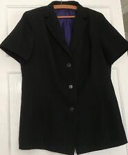 16 Ladies Black short sleeved summer jacket