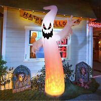 Halloween Inflatable Ghost 12Ft Upgraded Halloween White Ghost with Lighted Real