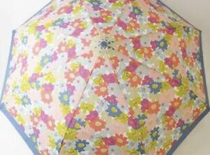 100% Auth Coach Folding Umbrella Blue Flower Pattern Floral