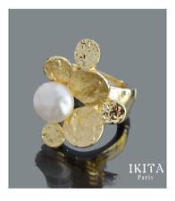Ring Fingerring Damenring Ikita Paris Emaille Perlen Imität Metall Elastisch