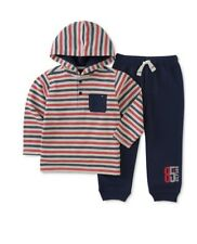 Tommy Hilfiger 2-PC Striped Thermal Hoodie & Jogger Pants Set, Baby Boys 6-9 Mon