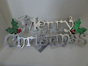 Silver christmas sign - (16-17)