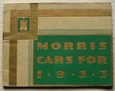 Morris Voiture Gamme sales brochure 1933 #16979-8/32 Major Minor Oxford Isis Cowley
