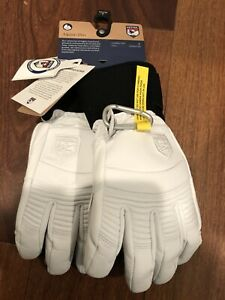 NEW Hestra Army Leather Fall Line Ski Gloves Size 7 Small/ Medium White