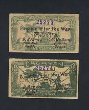 Japan - Philippines Cagayan 2 Consecutive 5 Centavos 1942 Emergency Note