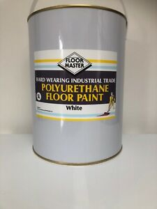 FLOORMASTER GARAGE/WORKSHOP FLOOR PAINT 5LT WHITE Used By the Professionals.