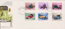 (K80-44) 1972 NZ FDC 36c six stamps 13th International vintage rally (AN)