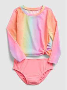 Baby Gap Ombre Rainbow Recycled Rash Guard Two Piece Swim Suit NWT Various Szs