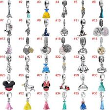 European CZ Charms Beads Pendant Fit 925 Silver Sterling Bracelet Necklace Chain