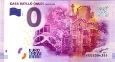 ESPAGNE Casa Battló Gaudi - Barcelona, 2016, Billet 0 € Souvenir