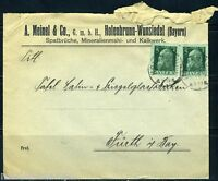 GERMANY BAVARIA HOLENBRUNN 7/5/1913 TO FURTH WITH PATRIOTIC LABEL AS SHOWN