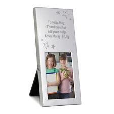 Personalised Engraved Stars Silver Photo Frame - Birthdays, Graduation, Teacher