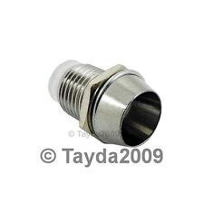 10 x 5mm Bezel LED Holder Chrome Metal - FREE SHIPPING