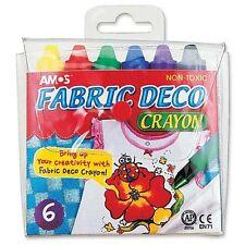 Amos Kids Crafts - Fabric Deco Crayon Kit 6 Colors