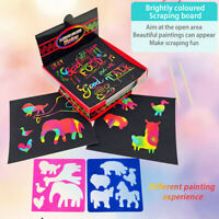 Scratch Notes Set Scratch Doodle Art With 100 Holographic Rainbow Paper 2 Stylus