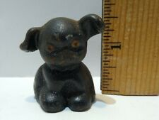 """New listing Antique 1 1/2"""" Cast Iron Bucki Carbon Ribbons Dog Paperweight Advertising"""