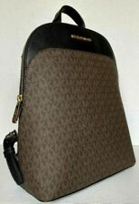 Michael Kors Large Emmy Signature Backpack Brown/Black.
