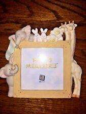Russ Noah'S Ark Animals Elephant Giraffe Rabbit Lamb Ceramic Picture Frame 7x7