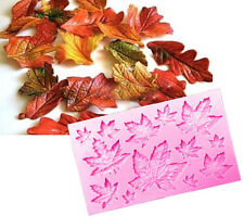 Maple Leaves 13 Cavity Silicone Mold for Fondant, Gum Paste, Chocolate, Crafts