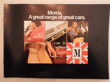 MORRIS RANGE orig 1972 UK Mkt Sales Brochure - Mini Marina 1800 2200 - BL 2955