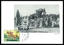 SAN MARINO MK 1966 REITEN REITSPORT PFERD PFERDE HORSE MAXIMUM CARD MC CM am34