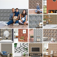 Hot Sale 3D Wallpaper Wall Decor Embossed Brick Simulation Tile Wall Sticker