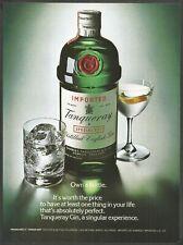 TANQUERAY Distilled English Gin - 1979 Vintage Print Ad