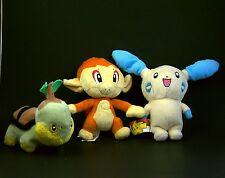 Lot of 3 Nintendo Pokemon Plush Turtwig Chimchar Minun 2007