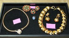 Nina Ricci, Anne Klein & Sarah Coventry Necklace Earrings Vintage Lot Signed