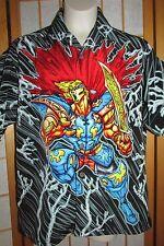 Boys Youth Ocean Current Super Hero Button Front Shirt Shirts Medium