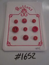 #1652 Lot of 9 Red Buttons