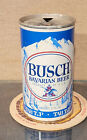 1969 BUSCH STRAIGHT STEEL TAB TOP PULL TAB BEER CAN ST LOUIS MISSOURI 7 CITY