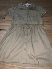 cat & jack size 6x tan uniform dress with belt