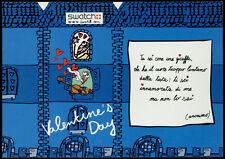 cartolina pubblicitaria PROMOCARD n.2196 SWATCH OROLOGI VALENTINE'S DAY