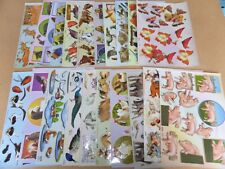 *NEW* 21x Sheets Assorted Decoupage *Animals & Birds*  A4 TBZ Traditional