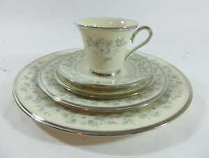 Lenox Windsong 5 Piece Place Setting Dinner Salad Bread Butter Plate Cup Saucer