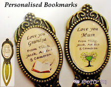 Personalised Name Bookmark Gift, Grandad Sister Dad ANYONE Man Mothers Day