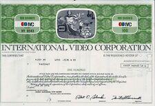 IVC International Video Corporation, Delaware, 1976 (100 Shares)