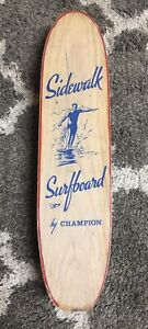 Rare Vintage 60's Wooden Sidewalk Surfboard By Champion Skateboard Mint!!
