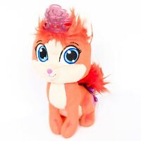 "Disney Palace Pets Princess Treasure Cat Plush 10"" Ariel Little Mermaid Orange"