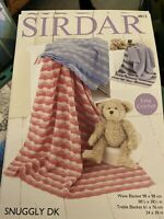 Sirdar 4813 Easy Crochet Pattern For Blankets Snuggly DK Free Post