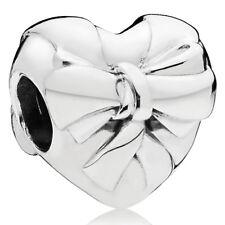 PANDORA Charm Element 797303 Herz mit Schleife Silber Bead