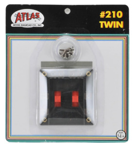Atlas #210 Twin - 2 double-pole, double-throw reversing switches  HO & N