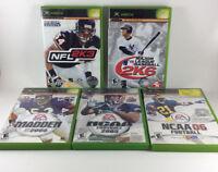 Xbox Sports 5 Lot Football Baseball NCAA 2005 06 Major League 2K6 Madden NFL 2K3
