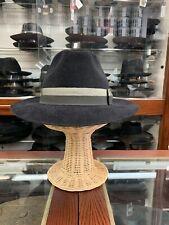 Borsalino Velour Men's Fedora Hat Made In Italy Size 59 7 3/8