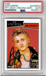 Alex Winter autographed signed card The Lost Boys PSA ITP Encapsulated Marko