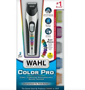 Wahl Color Pro Cordless Rechargeable Hair Clipper & Trimmer – Men Women Children