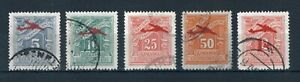 Greece 1941 Postage Due stamp optd with Junkers. Used. Sg 556-560