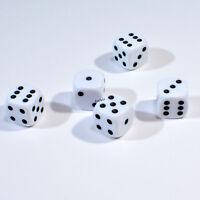 50 Stück 12mm Weisse Knobel Würfel / Augen Würfel Spielwürfel von Frobis