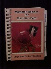 Mamma's Recipes for Mamma's Eyes, Large Print Cookbook for Easy Reading